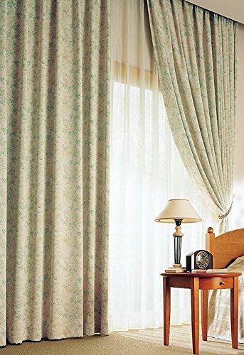 アスワン いっぱいにちりばめた繊細な花柄デザイン カーテン1.5倍ヒダ E6264 幅:250cm ×丈:280cm (2枚組)オーダーカーテン 280  B0784WSW4T