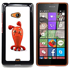 Ihec Tech Triste Roja Figurita 3D de dibujos animados burbuja de personaje / Funda Case back Cover guard / for Nokia Lumia 540