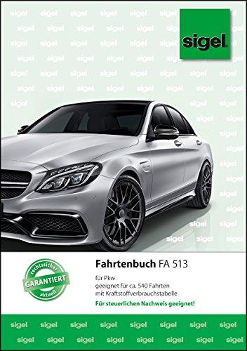 sigel FA513 Fahrtenbuch Pkw, A5, 32 Blatt