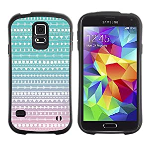 LASTONE PHONE CASE / Suave Silicona Caso Carcasa de Caucho Funda para Samsung Galaxy S5 SM-G900 / Teal Pink White Wallpaper