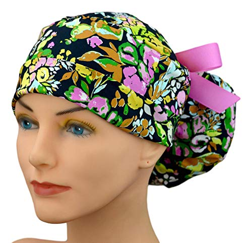 Womens Perfect Fit Ponytail Surgical Scrub Hat Cap - Shut it Down