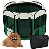 "Yescom 45"" 2-Door Waterproof 600D Oxford Cloth Pet Playpen Dog Puppy Tent Exercise Kennel Green"