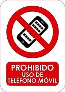 Señal de Prohibido Usar Teléfono Móvil 15x21cm   Material