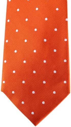 Orange/White Polka Dot Tie by David Van Hagen