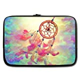 """Modern Design Dreamcatcher Dream Catcher Watercolor Painting Theme Soft Water-proof Neoprene Carrying Case Sleeve Bag For Macbook, Macbook Air/Pro 13 Inch All 13"""" Laptop Notebook(two sides)"""