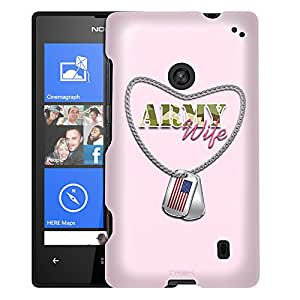 Nokia Lumia 520 Case, Slim Fit Snap On Cover by Trek Nameplate Army Wife Case