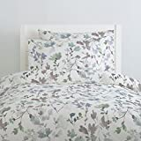 Carousel Designs Soft Wildflower Duvet Cover Queen/Full Size - Organic 100% Cotton Duvet Cover - Made in the USA