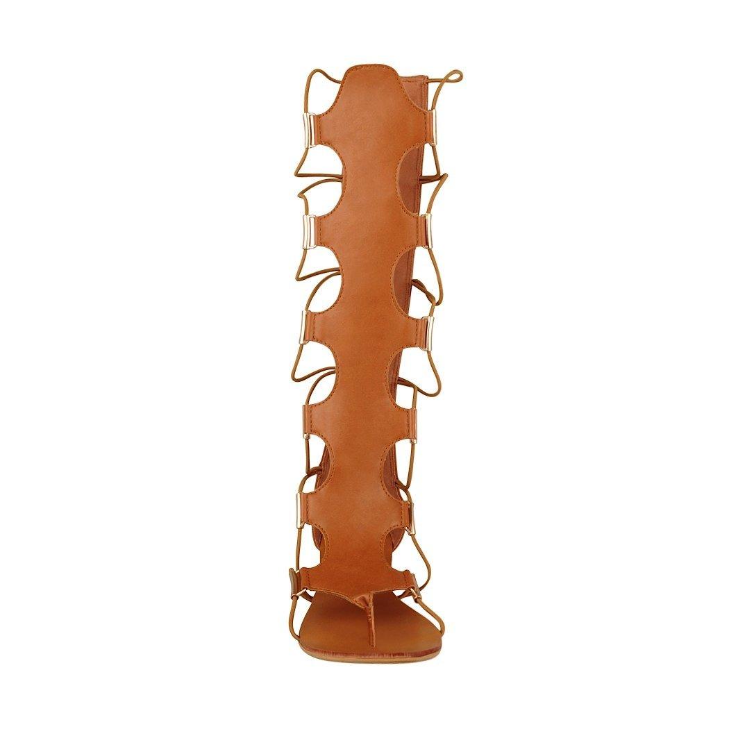 a4ed2473497 Capa de Ozono Sandalias Gladiador Mujer simi Tan 33302-2  Amazon.com.mx   Ropa