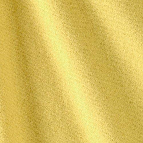Laguna Fabrics Rayon Sweatshirt Fleece Yellow Fabric By The Yard