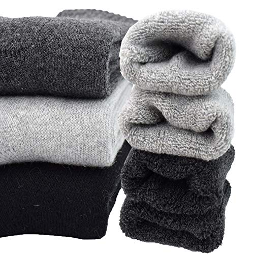 3Pack Men's Cashmere Wool Blended Winter Super Thick Warm Crew Socks Size 6-11
