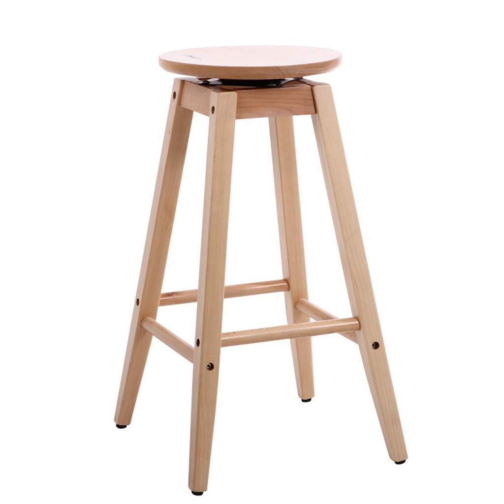3073CM Living Room Chair, Round Wood Non-Slip Bar Stool Balcony Terrace High Stool Tea Shop Coffee Shop Bar Chair Height 73CM (Size   30  73CM)