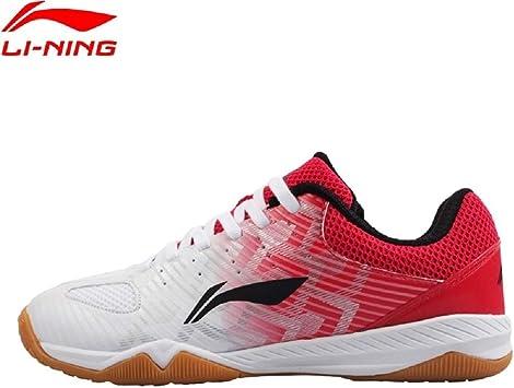Li-Ning Evolution NATIONALTEAM 2018 Ma Long - Zapatillas de Tenis de Mesa, Blanco/Rojo, 40.5: Amazon.es: Deportes y aire libre
