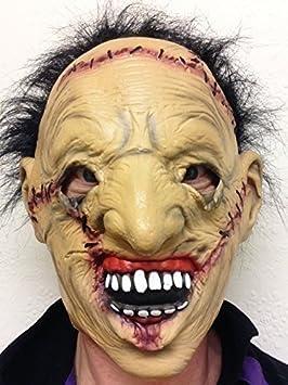 Leatherface forro cara Halloween Terror Máscara látex Zombie Calavera