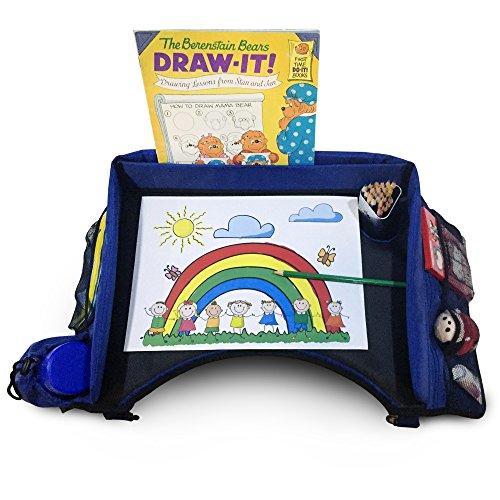 # 1clasificado bandeja de viaje–perfecto para niños en asiento de coche, tren, avión, carriola–Snack & Jugar...