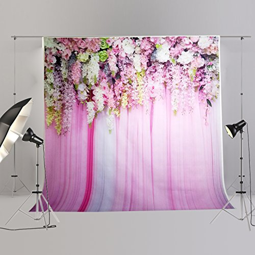 Wedding Floral Photo Backdrops Bridal Shower Background Party Prom Ball Blossom Decoration Studio Ladies Photography Props Pink Flower FT6740 -