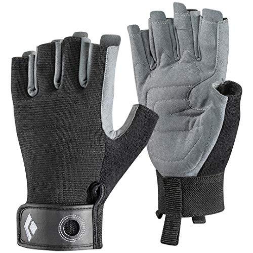 Black Diamond Crag Half-Finger Climbing Gloves, Black, Small