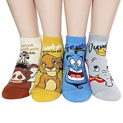 Socksense Animation Character Cartoon Series Women's Original Socks (Animation_4pairs) at Women's Clothing store