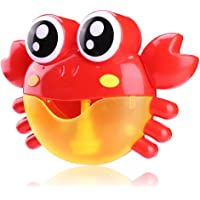 Sunsoar Red Plastic Crab Bubble Machine Music Bubble Maker Baby Bath Shower Fun Toy Birthday New Year Christmas Gift (B)