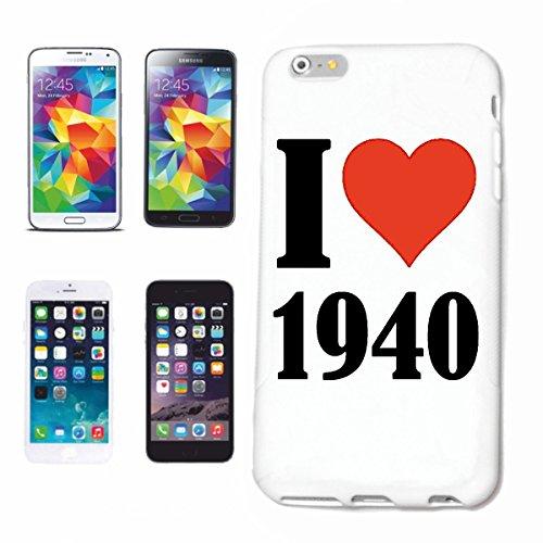 """Handyhülle iPhone 4 / 4S """"I Love 1940"""" Hardcase Schutzhülle Handycover Smart Cover für Apple iPhone … in Weiß … Schlank und schön, das ist unser HardCase. Das Case wird mit einem Klick auf deinem Smar"""