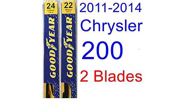 Amazon.com: 2011-2014 Chrysler 200 Replacement Wiper Blade Set/Kit (Set of 2 Blades) (Goodyear Wiper Blades-Premium) (2012,2013): Automotive
