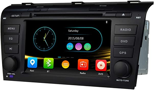 Android 10 Car Stereo Radio Fit for Mazda 3 2004 2005 2006 2007 2008 2009 9 Inch HD Touch Screen Car Video Player GPS Navigation Bluetooth WiFi Support Backup Rear View Camera