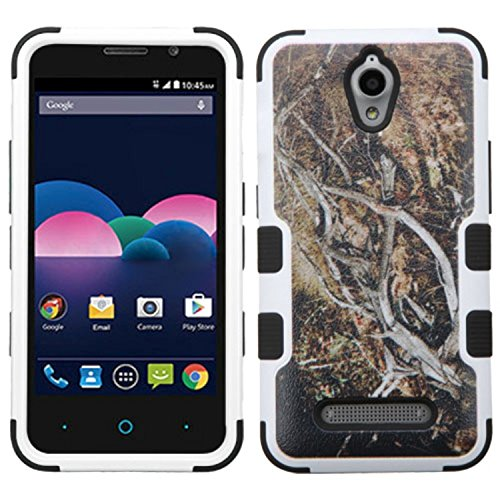 MyBat Cell Phone Case for ZTE Z820 (Obsidian) - Retail Packaging - Black/Yellow