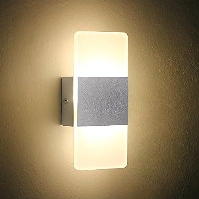 LED Wall Light Bedside Wall Lamp, Oenbopo Modern Acrylic LED Bedroom Hallway Bathroom Wall Lamps Fixture Decorative Night Light For Pathway Bedroom, Kitchen, Dinning Room,Balcony
