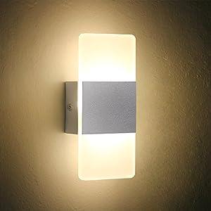 Amazon.com : LED Wall Light Bedside Wall Lamp, Oenbopo Modern ...