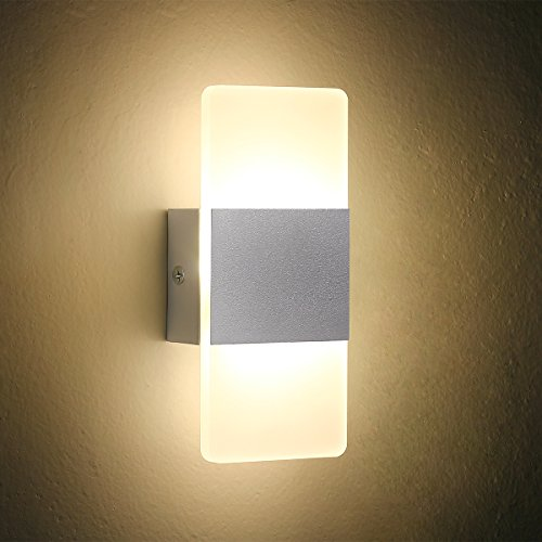 Led Wall Light Bedside Wall Lamp Oenbopo Modern Acrylic