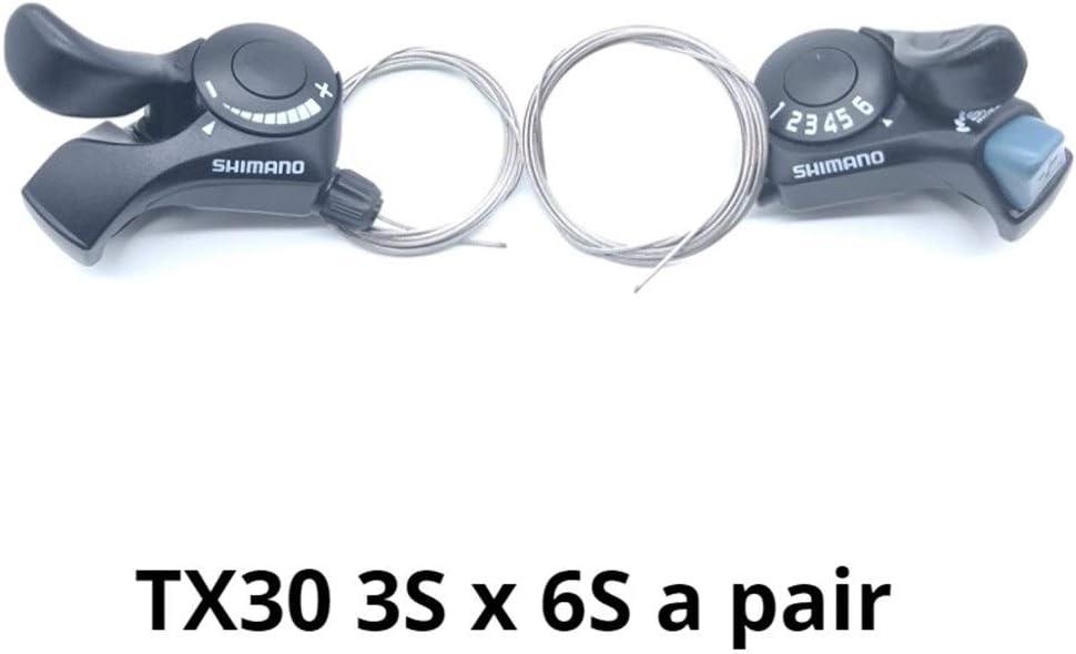 Lijincheng Transmission de Bicyclette Tourney SL-TX30 V/élo de Montagne Levier 6S 7S 18//21 Vitesse avec c/âble Pignon int/érieur Manettes TX30