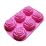 Large Rose Flower Ice Cube Chocolate Soap Tray Mold Silicone Party maker