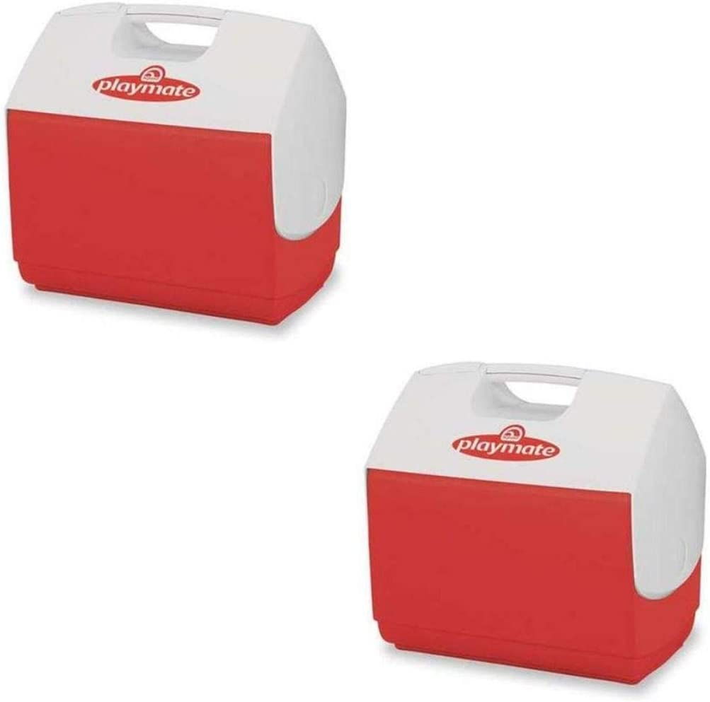 Personal Sized Cooler Igloo Playmate Elite 16 Qt Red body with white lid 43362