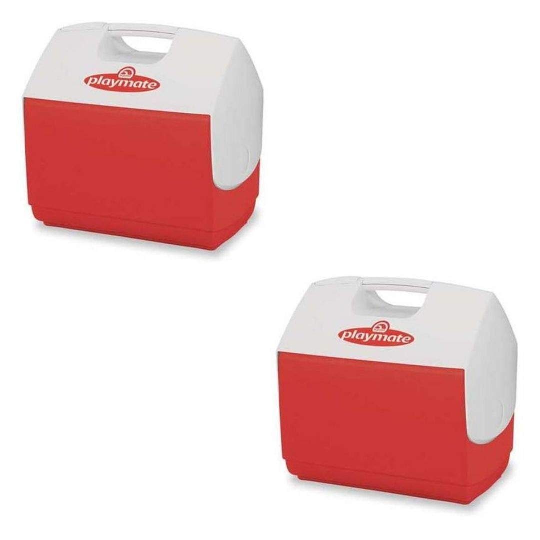 Igloo Playmate Elite 16 Qt. Personal Sized Cooler, Red Body with White lid - 43362 (2 Set, 16 Qt, Red) by Igloo