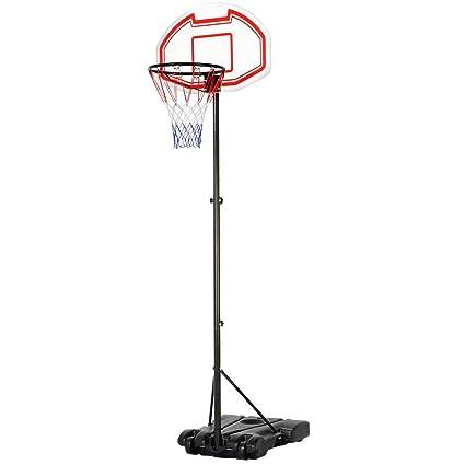Amazon.com: Yaheetech Sistema de aro de baloncesto de altura ...