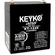Battery 12V 4Ah AGM/SLA Sealed Lead Acid Rechargeable Replacement Genuine KEYKO KT-1240 - F1 Terminal