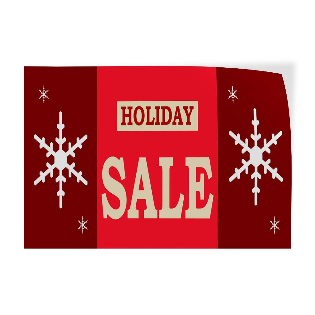Set of 10 Decal Sticker Multiple Sizes Holiday Sale red Lifestyle for Sale Outdoor Store Sign Red 14inx10in