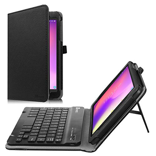 Fintie Alcatel 3T / Alcatel A30 8 Tablet Keyboard Case - PU Leather Folio Stand Cover with Removable Wireless Bluetooth Keyboard for T-Mobile Alcatel 3T 2018 / A30 2017 Tablet 8 inch, Black