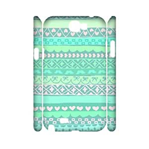 Green Tribal Pattern 3D-Printed ZLB556900 Customized 3D Phone Case for Samsung Galaxy Note 2 N7100