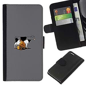 All Phone Most Case / Oferta Especial Cáscara Funda de cuero Monedero Cubierta de proteccion Caso / Wallet Case for Apple Iphone 5C // Funny Cow Milking