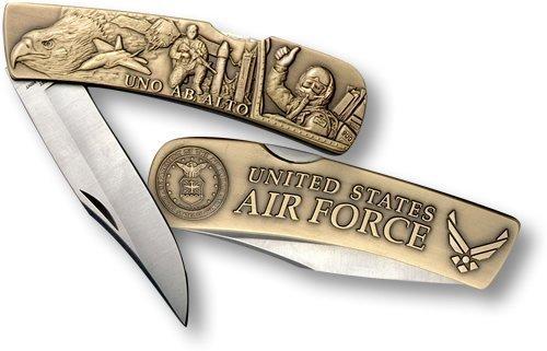 Air Force Lockback Knife - Large Bronze Antique