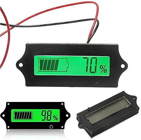 Fácil de montar 3pcs 12V 24V 36V 48V de plomo ácido de la batería de litio 2-15S batería universal ajustable 6-63V pantalla verde impermeable Capacidad Pantalla LCD Tarjeta de indicación del voltímetr