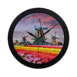 ZXWXNLA Simple Silent Sweep Non-Ticking Wall Clock Decorative Clock Quiet Sweep Movement for Boy Family for Class Kid Room Bedroom Decorative 9.65 Inch