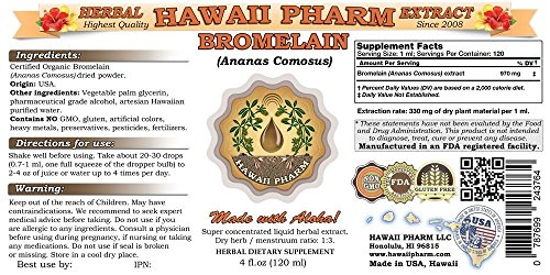 Bromelain Liquid Extract, Bromelain (Ananas Comosus) Powder Tincture Supplement 2x32 oz Unfiltered by HawaiiPharm (Image #1)