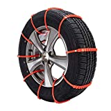 Pulomi 10PCS Car Truck Anti-skid Chains Reusable Emergency Snow Mud Wheel Tyre Tire Chains Belting Straps Ties Cable Nylon