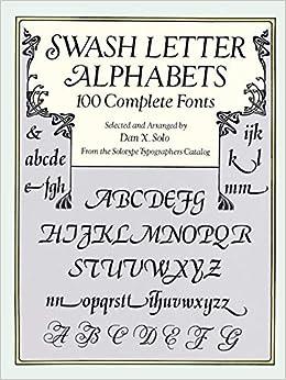Woman swash font book