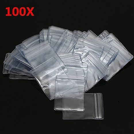 Generic - 100 bolsas de cierre autoadhesivas de PVC con ...