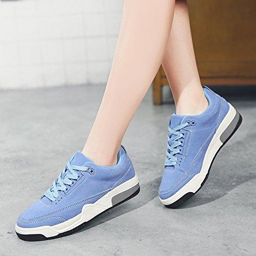 Correr Mujer Plataforma Deportivos De Para Gruesa Shoes Xiaolin Azul Zapatos Yqn8wxq6v