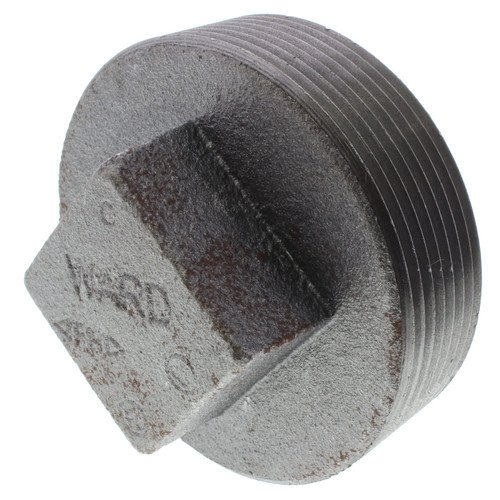 3 inch Black Regular Cored Plug