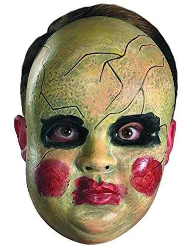 Disguise Costumes Smeary Doll Face Mask, Adult ()