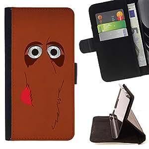 - Queen Pattern FOR Samsung Galaxy S6 EDGE /La identificaci????n del cr????dito ranuras para tarjetas tir????n de la caja Cartera de cuero cubie - cute mammoth elephant cartoon br
